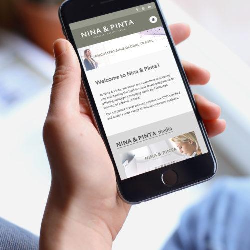 Portfolio - Nina & Pinta Website Design
