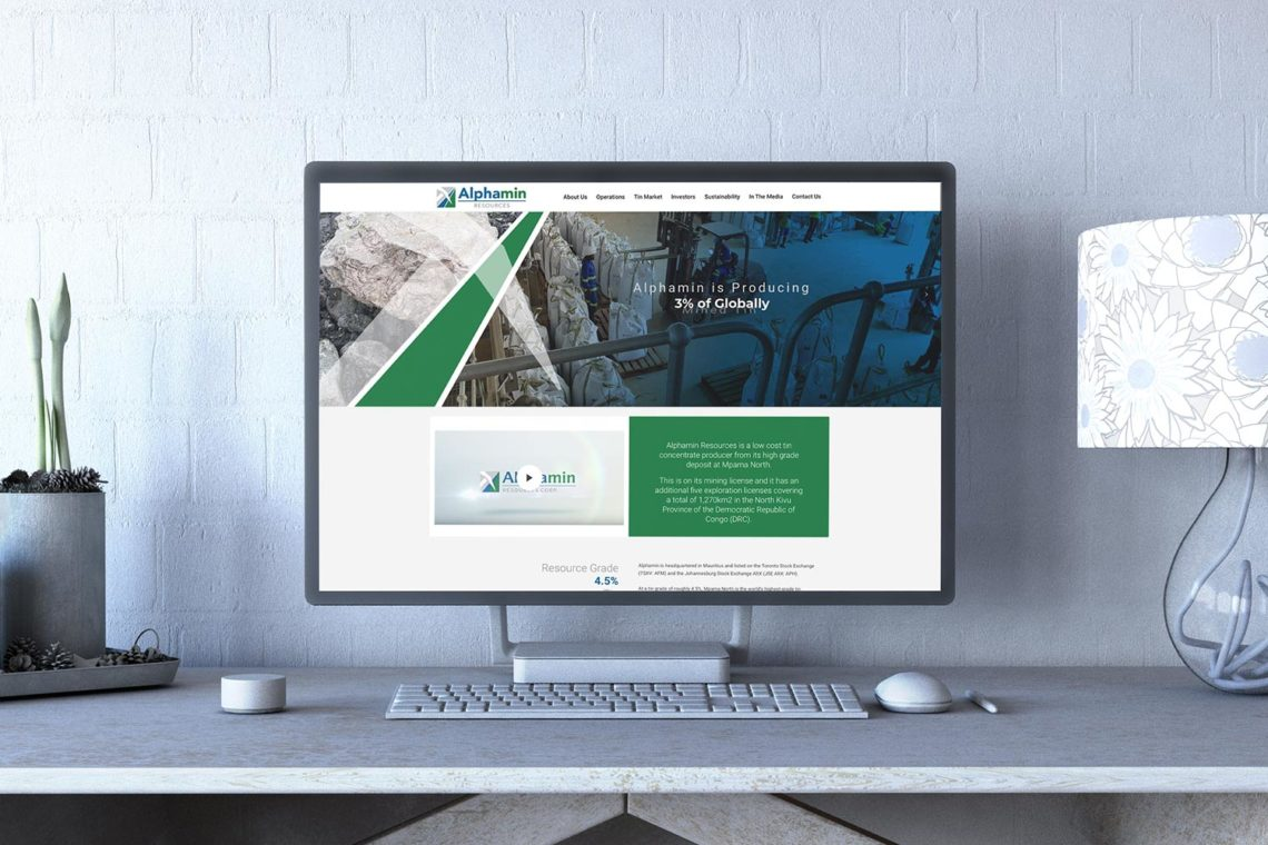 Portfolio - Alphamin Resources Website Design & Dev