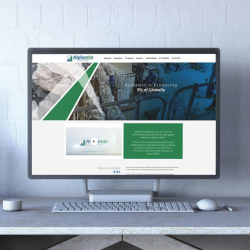 Portfolio - Alphamin Resources Website Design & Dev