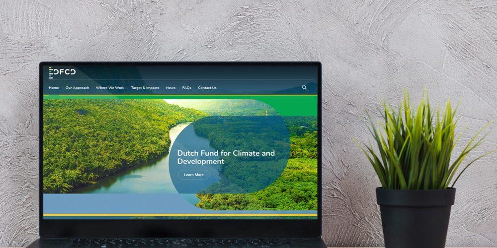 Portfolio - The Dutch Fund for Climate and Development Web Design & Dev