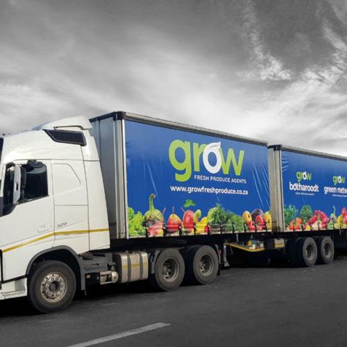 Portfolio - Grow Fresh Product Agents - Truck Side Curtain Design
